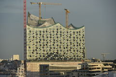 Elbphilharmonien Hamburg, Tyskland Royaltyfria Foton