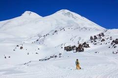 Elbrus - ένα ηφαίστειο ύπνου Στοκ φωτογραφία με δικαίωμα ελεύθερης χρήσης