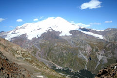 Elbrus - самая высокая гора в Европе Стоковое Изображение