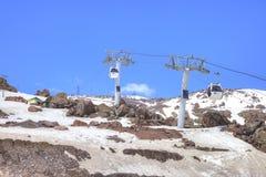 elbrus 在第一个水平上的空中推力 免版税图库摄影