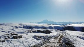 Elbrus. Arch. Russian caucasian mountains. Dombay royalty free stock photography