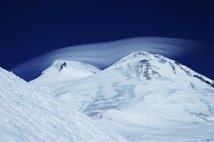 The Elbrus cap Royalty Free Stock Images