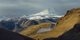 Elbrus in clouds Stock Photography