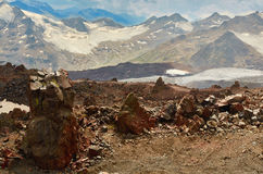 Elbrus del sur Imagen de archivo libre de regalías