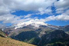 Elbrus. The Elbrus - the double-headed summit. The highest peak of Russia and Europe 5642 meters above sea level Royalty Free Stock Photos