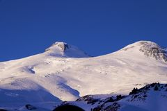 Elbrus at the evening Stock Photography