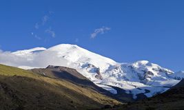 Elbrus is the highest top of Europe. Better mountains can be just the mountains. Mount Elbrus Royalty Free Stock Photography
