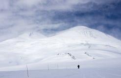 Elbrus, montanhas de Cáucaso Fotografia de Stock