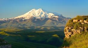 Elbrus am Morgen Stockfotografie