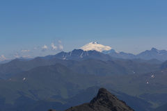 Elbrus mount far away Stock Photography