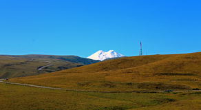 The Elbrus mountain is highest peak of Europe Stock Photography