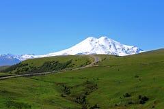 Elbrus mountain is highest peak of Europe Royalty Free Stock Photo