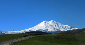 Elbrus mountain is highest peak of Europe Stock Images