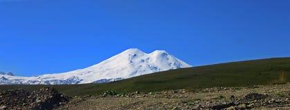 Elbrus mountain is highest peak of Europe Stock Photo