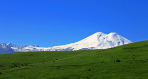 Elbrus mountain is highest peak of Europe Stock Image