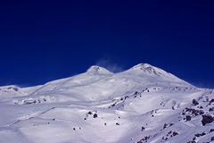 Elbrus mountain peaks Royalty Free Stock Images