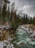 Elbrus mountain river under the snow Stock Photography