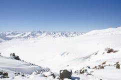 Elbrus mountains. The top of Elbrus mountains, Kabardino-Balkaria, Russia Stock Images