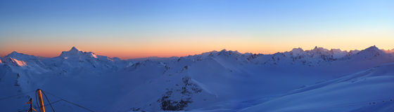 Elbrus Panoram Royalty Free Stock Images