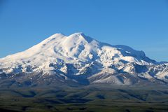 Elbrus przy zmierzchem obraz royalty free