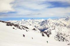 Elbrus que sube Fotografía de archivo libre de regalías