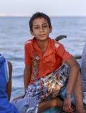 Elbrus See, Ägypten - 24. Juli 2015: Junger ägyptischer Junge Lizenzfreie Stockbilder