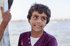 Elbrus See, Ägypten - 24. Juli 2015: Nicht identifizierter ägyptischer Junge Stockfotografie