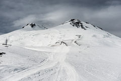 Elbrus in snow Royalty Free Stock Photography