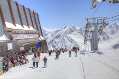 Elbrus. Station of Aerial lift Stock Images