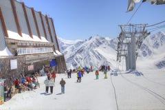 elbrus Station av den flyg- elevatorn Arkivbilder