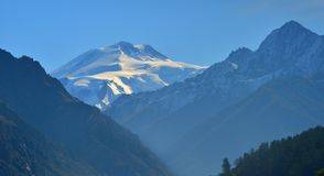 Elbrus ,valley Kuban Royalty Free Stock Photos