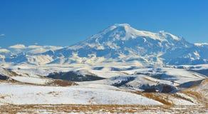 Elbrus in winter Stock Image