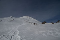 Elbrus in winter Royalty Free Stock Photography