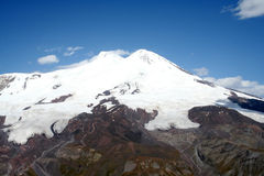 Elbrus - wysoka góra w Europa Zdjęcia Royalty Free