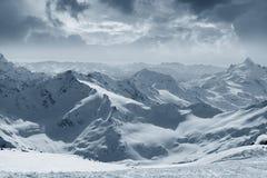 Elbrus zet op Stock Foto's