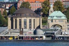 Elbtunnel i Hamburg royaltyfri foto