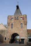 Elburg tower. City Entrance of Elburg, Vischpoort Royalty Free Stock Photography