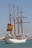 Elcano, buque insignia de la marina de guerra española Imágenes de archivo libres de regalías