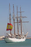 Elcano, Flagship of the Spanish navy. royalty free stock images