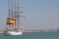 Elcano, Vlaggeschip van de Spaanse marine Stock Foto