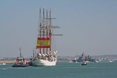 Elcano, Vlaggeschip van de Spaanse marine Stock Fotografie