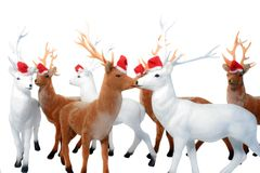 Elch-Weihnachten. Lizenzfreies Stockbild