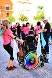 People participating in activities for the world day of cerebral palsy royalty free stock photo
