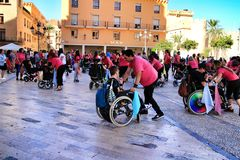 People participating in activities for the world day of cerebral palsy stock photography
