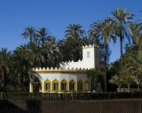 Elche castle. An old white walled castle in Elche, Spain Royalty Free Stock Image