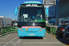 Elche CF Team Bus - Luxury Coach Travel Royalty Free Stock Image