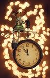 Elche, die auf der Uhr sitzen Stockbild