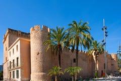Elche Elx Alicante Altamira slott nära el Palmeral Royaltyfri Foto