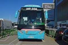 Elche Football Club Team Coach - Bus Travel Royalty Free Stock Image