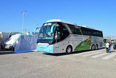 Elche football Club On Their Team Coach Royalty Free Stock Images
